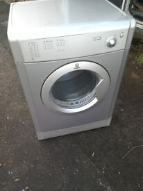 silver indesit vented 7kg dryer free ;pcal delivery allelectricals