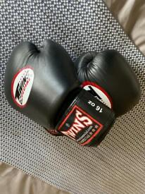 Twins Special 16oz leather boxing gloves