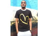 SIZE S Men's Show Love Tee Urban Hip Hop Fashion Tees Christmas Gift Hip Hop