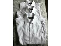 School uniform for sale 3 M&S white long sleeve shirts excellent condition 15 inch collar