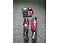 Sparring gloves and Shin Guards
