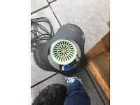 Bottom drain skimmer and water pump