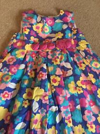 Girls party dress. Blue Zoo age 3-4.