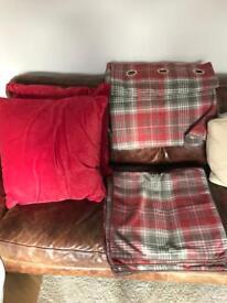 Next Curtains & 6 Cushions
