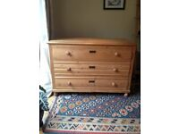 Beautiful Large Antique French Pine Chest of Drawers