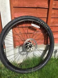 """Bike front wheel 26"""" with disc plate complete quick release"""