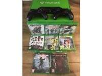 Xbox One and 1 extra controller with 8 Games