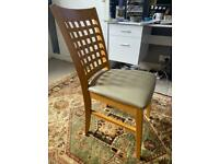 Leather seat chair x4