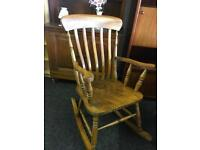 Rocking chair able to deliver