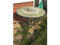 Garden patio metal table