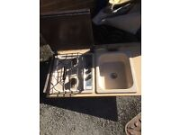 Sink and 2 burner hob and grill from vw t25