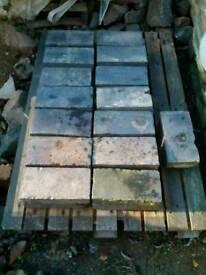 Victorian blue paving set bricks