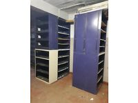 JOBLOT GARAGE SHELVING UNITS X 10 IN TOTAL 4 & 5 SHELVES 1300 4FT CAN BE DOUBLED