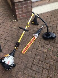 Ryobi petrol 'Expand It' lawn strimmer, hedge trimmer and leaf blower