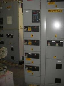 400 AMP Cutler Hammer MCC with Electronic CT Display and 225 Amp 120/208V Distribtuion