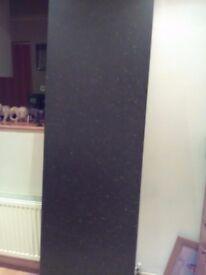 Bowden's 2 metre kitchen worktop, Black graphite