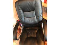 Adjstable black office revolving chair