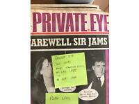 Private Eye magazine misc back issues '88 - '97