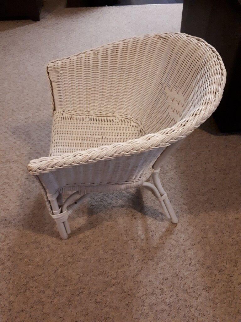 White Wicker Chair In Larkfield Kent