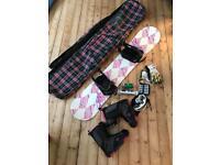 Ladies snowboard bundle