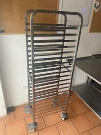 Matfer Bourgeat Full Gastronorm Racking Trolley 20 Shelf