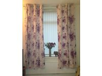 90' drop curtains & 4 matching cushion covers