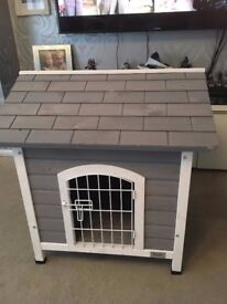Modern Indoor Grey&White Dog Cage