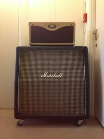 Peavey Classic 30 head amplifier, Marshall 4x12 Greenback speaker cabinet