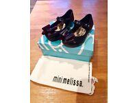 Vivienne Westwood Mini Melissa Ultragirl Black TS Bow