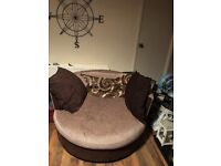 Sofa and large cuddle chair