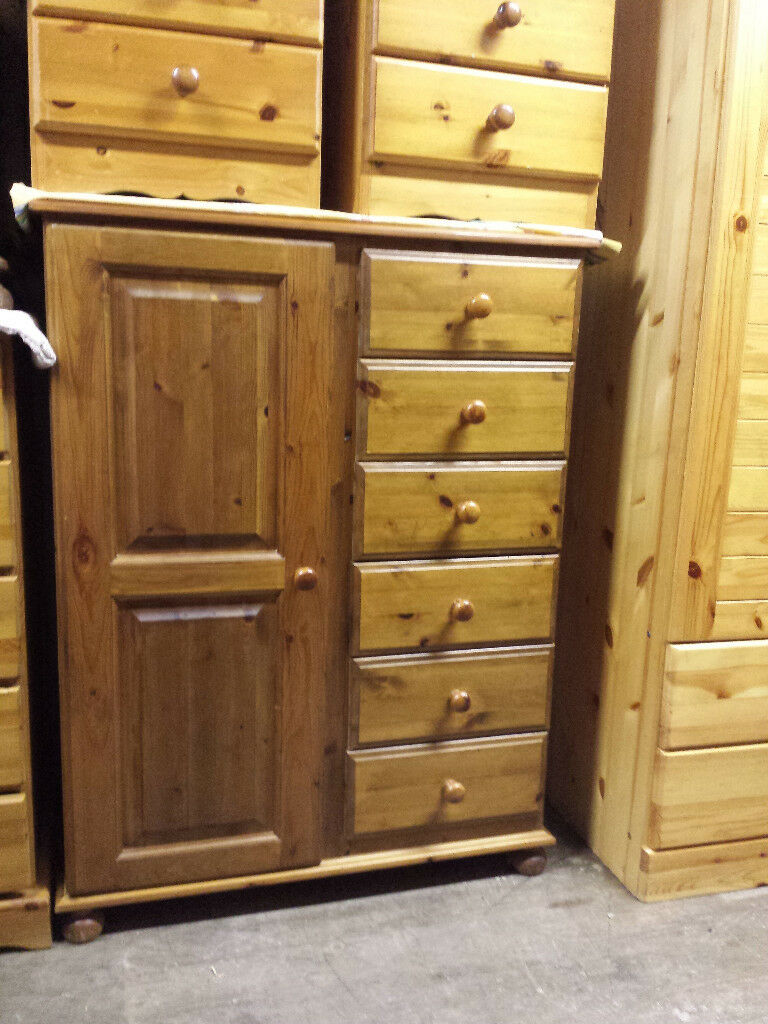 Solid Pine Small Wardrobe With Drawers Newry If Advert Still Here