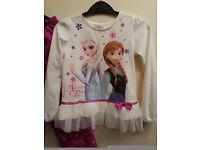 Disney Store Girls Frozen Elsa and Anna pyjamas age 5-6 yrs