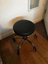 Black and silver stool