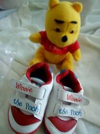WINNIE THE POOH TEDDY AND SHOES