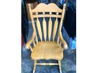 Solid Beech Rocking Chair