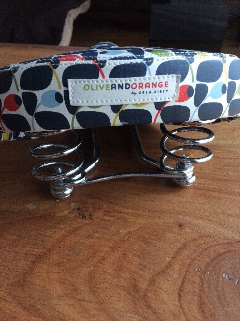 Olive And Orange By Orla Kiely Bicycle Seat