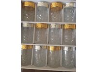 Brand new Moroccan tea glasses (set of 12) - 6 gold and 6 silver