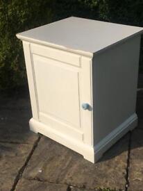 White SHOE CUPBOARD hall unit BATHROOM freestanding cabinet