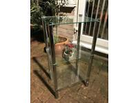 3 tier glass display unit