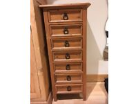 Solid Wood Chest of Drawers with rustic handles