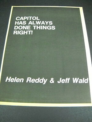 HELEN REDDY Jeff Wald CAPITOL HAS ALWAYS DONE RIGHT 1976 Promo Display Ad mint