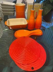 Le Creuset Volcanic and Red Items - Collection Balham or Central London