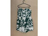 Green & White Playsuit