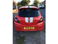 Flame red 2011 Vauxhall Corsa 1.4 Sri. Excellent condition