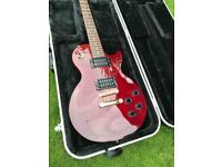 Rare Epiphone Les Paul studio cherry electric guitar with case