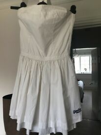 Superdry dress in white size small