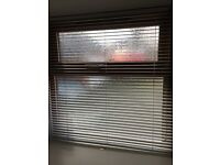 """White gloss Venetian blinds size 36 x 37"""" wide, ideal for a nursery, bathroom, kitchen, hall"""