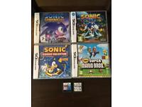 6 Nintendo DS games for sale.