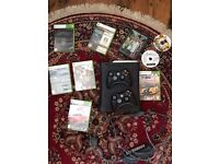 Xbox 360 elite 120GB with 2 controllers and 10 games