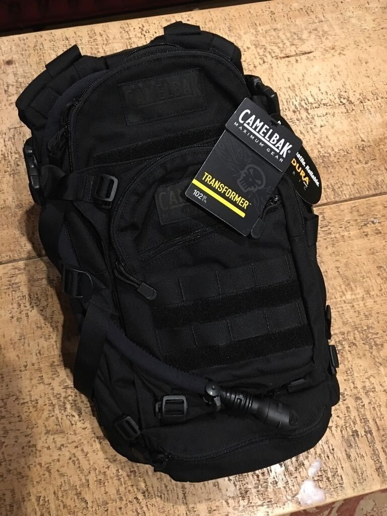 Backpack Transformer Black: Camelbak Transformer Backpack With Hydration System